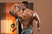 Bodybuilder Showing Perfect Biceps
