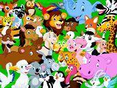 Cartoon animal background