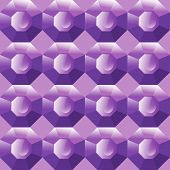 Vector Seamless Background Of Purple Gemstones