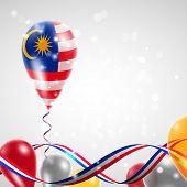 Flag of Malaysia on balloon