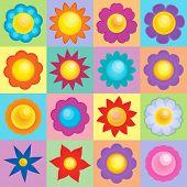 Flower topic image 2 - eps10 vector illustration.