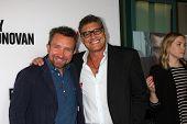 LOS ANGELES - APR 28:  Eddie Marsan, Steven Bauer at the