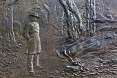 General Sherman Fire Bas Relief Civil War Memorial Pennsylvania Avenue Washington Dc