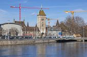 Zurich Cityscape With The Swiss National Museum