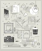 Poster On Topics Of Painting, Illustration And Photography