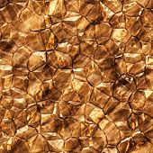 Gold mineral - close up illustration