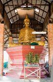Buddha Image In Simple Pavilion