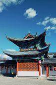 Mu Family Residence building in Lijiang, Yunnan, China.