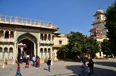 Jaipur, India - December 29, 2014: People Visit The City Palace