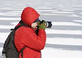 Photographer In Winter