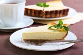 Slice Of Lemon Cheesecake