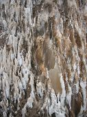 stock photo of crystal salt  - Natural salt crystals in nature salt mountain Cardona Catalonia Spain - JPG