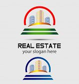 image of skyscrapers  - Skyscraper house logo Skyscraper house logo Skyscraper house logo - JPG