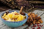 couscous with herbs, oranges and almonds