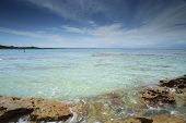 picture of crystal clear  - Views overlooking the crystal clear waters ofCurrarong Beach from the rocky southern foreshore on a beautiful summer day - JPG