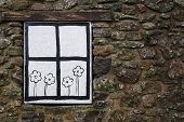 Cartoon Window And Flowers