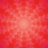 Abstract Background Of Hearts Arranged In A Circle