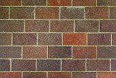 Brown Brick Wall Background.