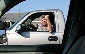 Man Showing Road Rage