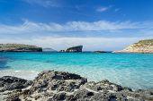Blue Lagoon On The Island Of Comino