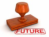 Rubber Stamp future  (clipping path included)