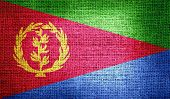 pic of eritrea  - Grunge of Eritrea flag on burlap fabric for your design - JPG