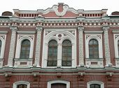pic of building relief  - Relief decoration of the old residential buildings in Moscow - JPG