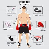 Sport equipment for muay tai martial arts