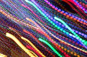 pic of sperm  - Pan of Colorful Holiday Lights Looks Like Sperm Swimming - JPG