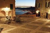 Italian Riviera, Borgio Verezzi by night
