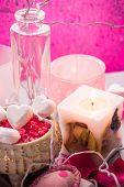Spa Composition Valentines Day Heart Love Body Health