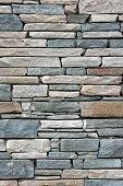 Grey Brick Wall As Background.