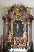 GRAZ, AUSTRIA - JANUARY 10, 2015: Altar of Holy Cross, Mariahilf church in Graz, Styria, Austria on January 10, 2015.