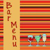 Restaurant Or Wine Bar Menu Design. Seamless Vector Illustration