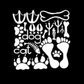 Pets Footsteps Card