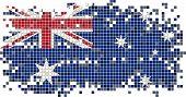 Australian grunge tile flag. Vector illustration