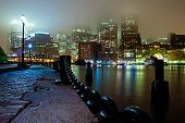 Foggy Boston Night
