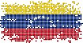 Venezuelan grunge tile flag. Vector illustration