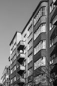 Facades of tenements