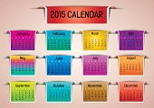 2015- Colorful Calendar