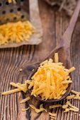 Heap Of Grated Cheddar