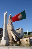 Fountain and Flag