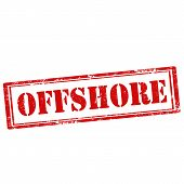 pic of offshore  - Grunge rubber stamp with text Offshore - JPG