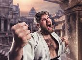 pic of karate  - Fat karate fighter - JPG