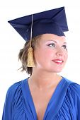 Woman In Graduation Cap