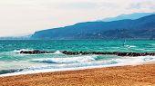 pic of windy weather  - Kite surfing at Costa de Almeria - JPG