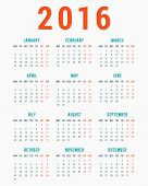 picture of monday  - Calendar for 2016 on White Background - JPG