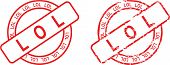 picture of lol  - stamp sticke with word lol in vector format very easy to edit - JPG