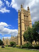 image of prime-minister  - Big Ben and The Houses Of Parliament which were built on the site of The Royal Palace Of Westminster in a neo Gothic style after a fire in 1834 - JPG