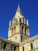 stock photo of church-of-england  - The spire of Christ Church Cathedral - JPG